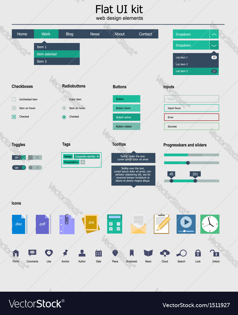 Ui kit is a beautiful components featuring the