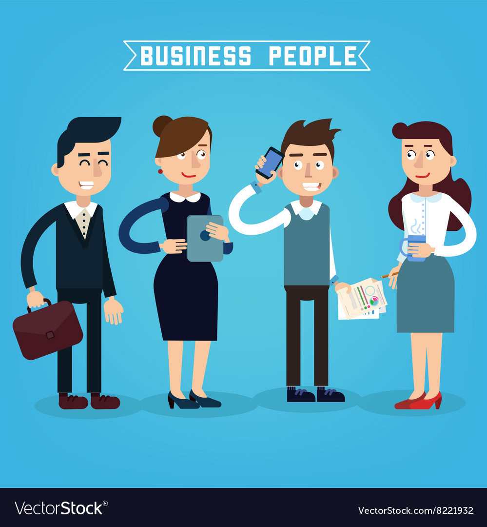 Business People Businessman and Businesswoman