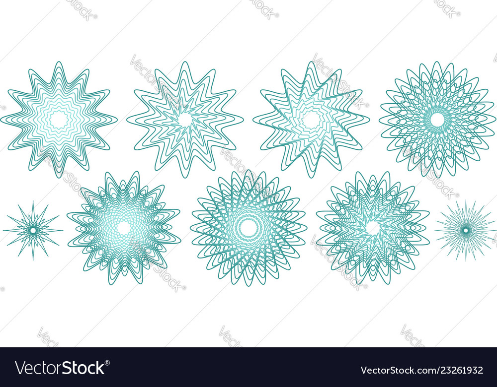 Guilloches or abstract snowflakes
