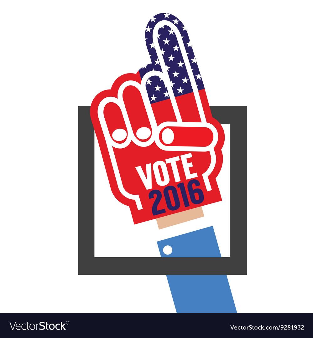 Hand Foam Vote 2016
