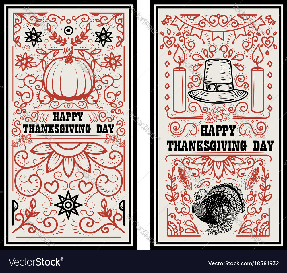 Happy thanksgiving day banner template
