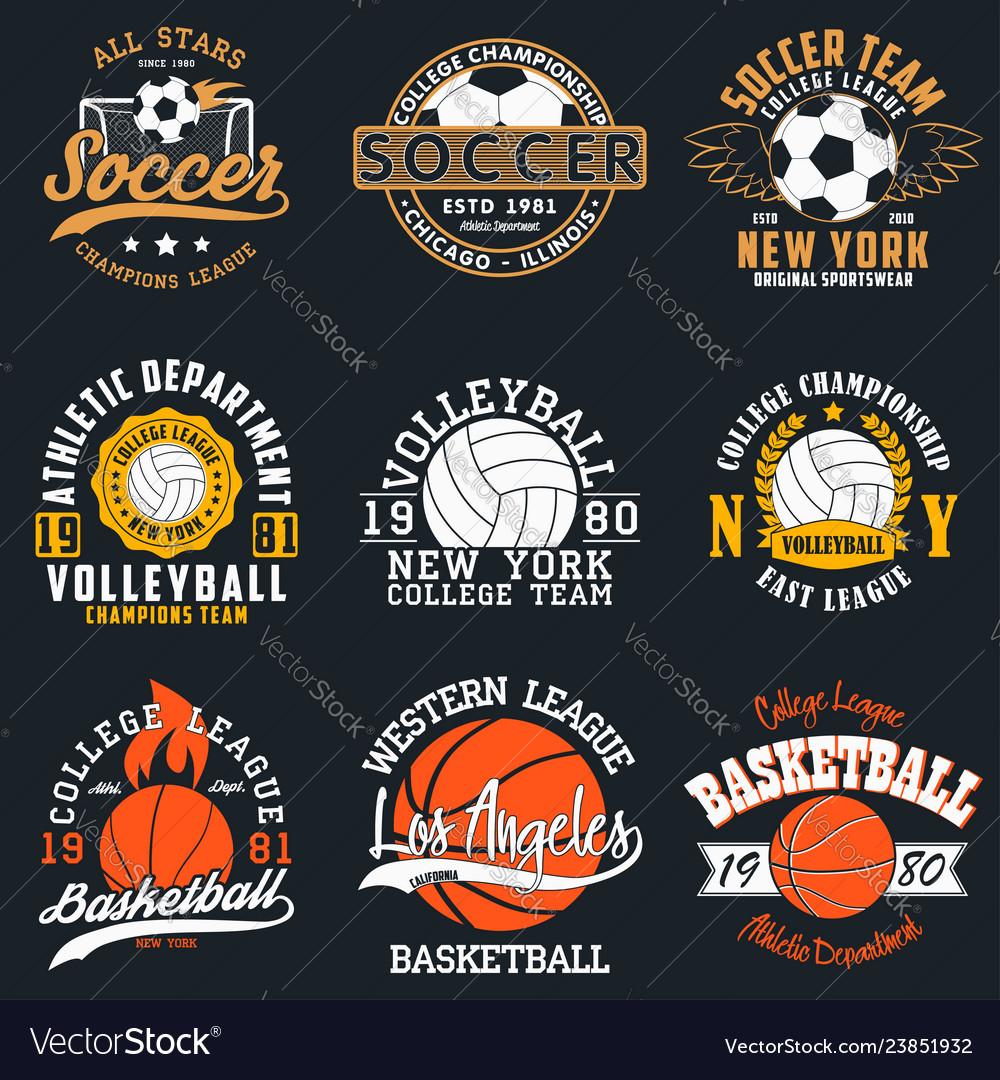 Sport t-shirt set with balls