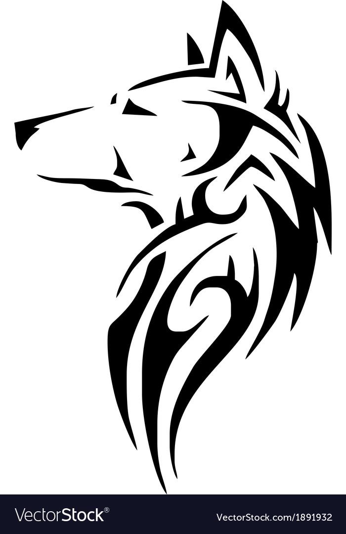 Tribal Wolf Head Royalty Free Vector Image Vectorstock