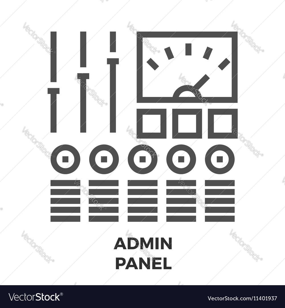 Admin Panel Line Icon