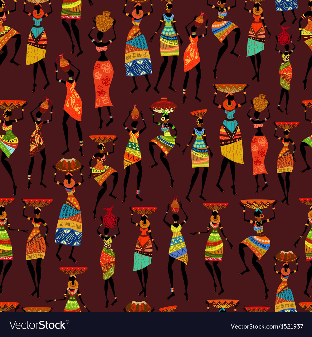 Africa girl seamless
