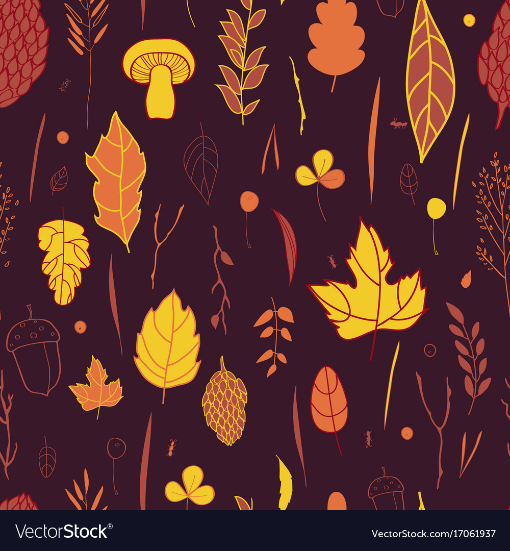 Autumn pattern with the image of autumn