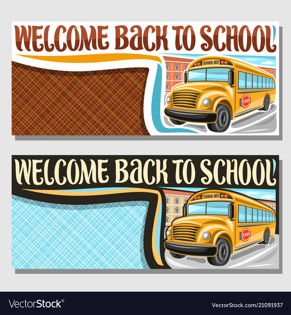 Banners for school bus