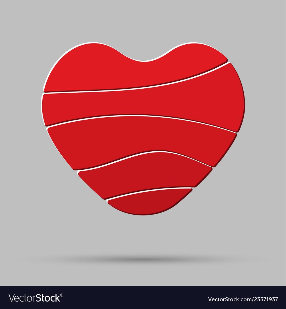 Element heart love symbol of romance