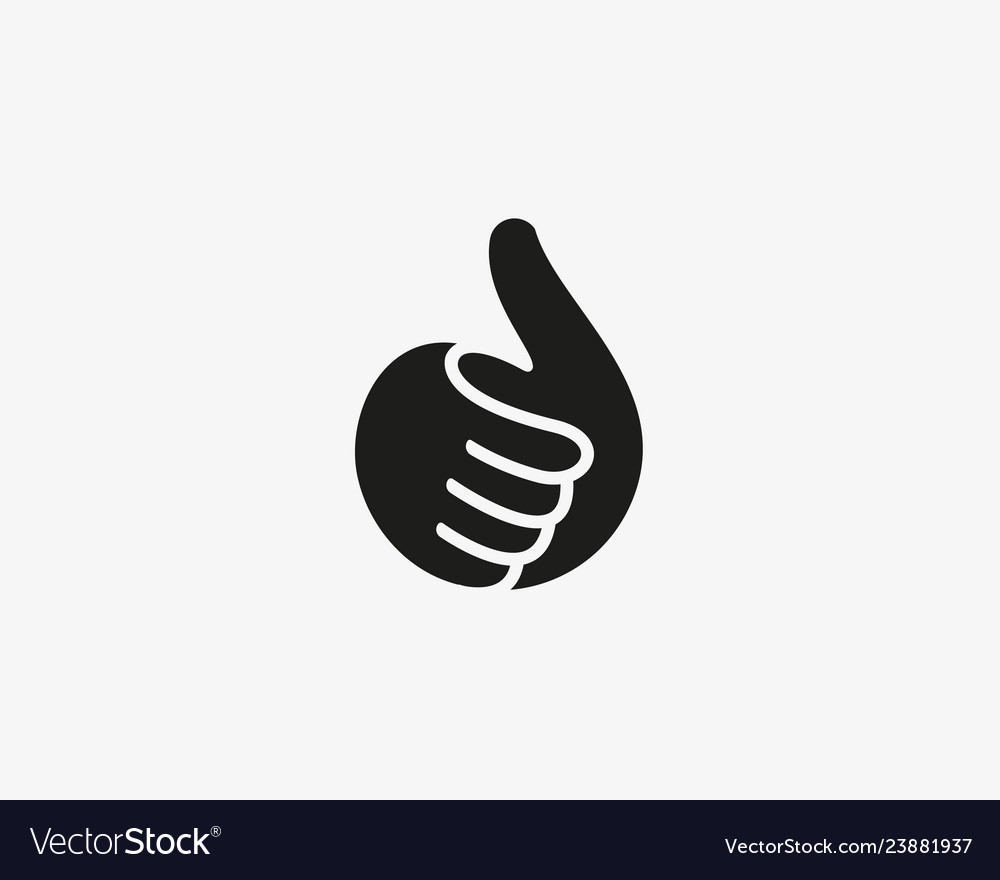 Hand thumbs up logo like fingers