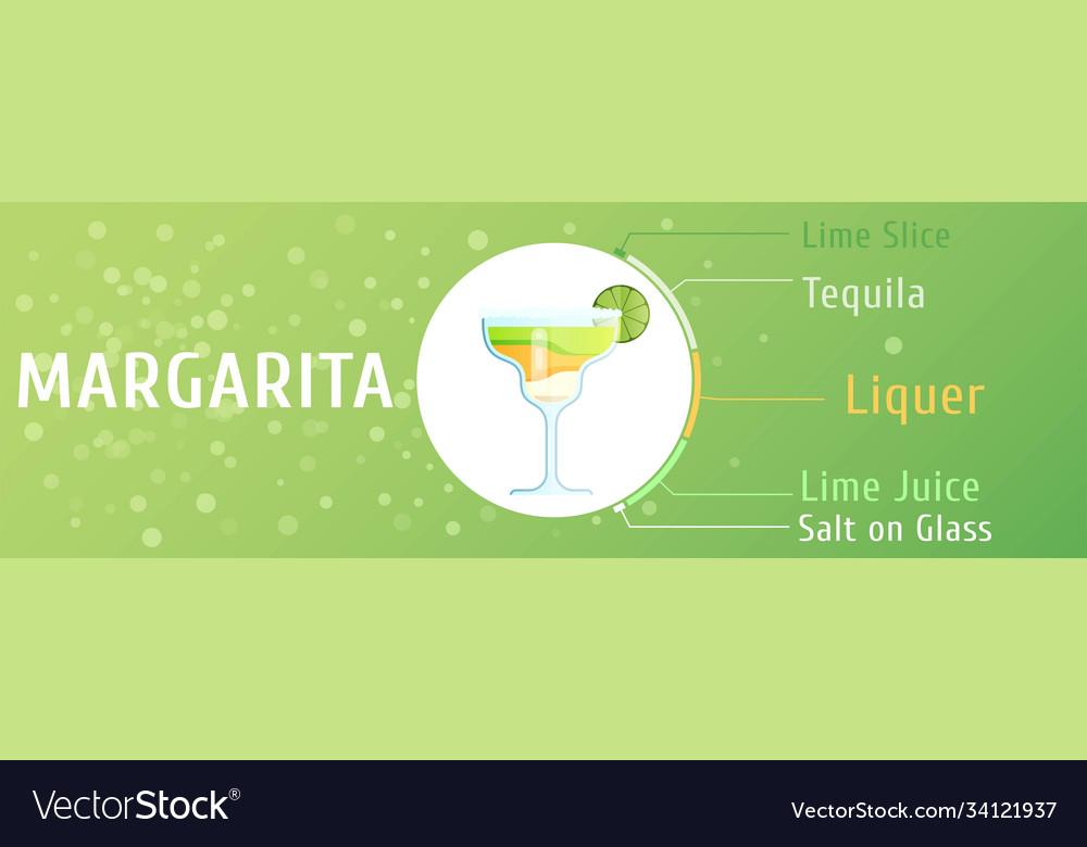 Mojito cocktail ingredients trendy stylish flat