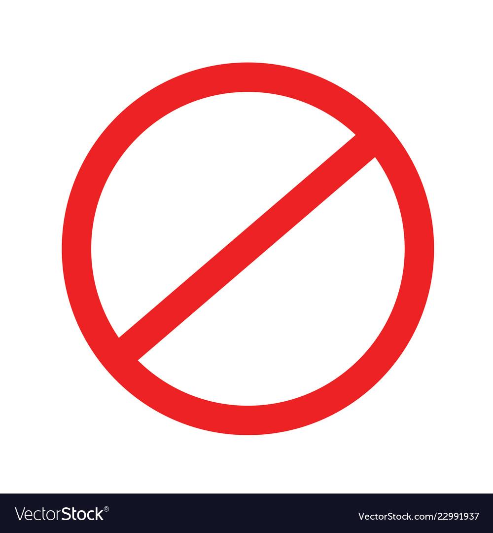 No sign stop icon blank ban