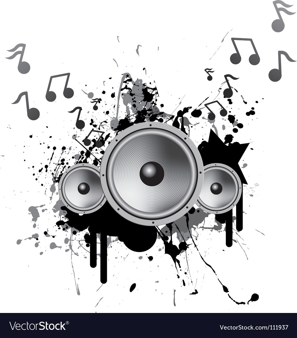 speakers playing music royalty free vector image rh vectorstock com music vector background music vector oblong