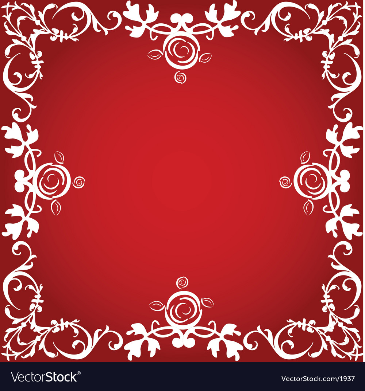 valentine border royalty free vector image vectorstock