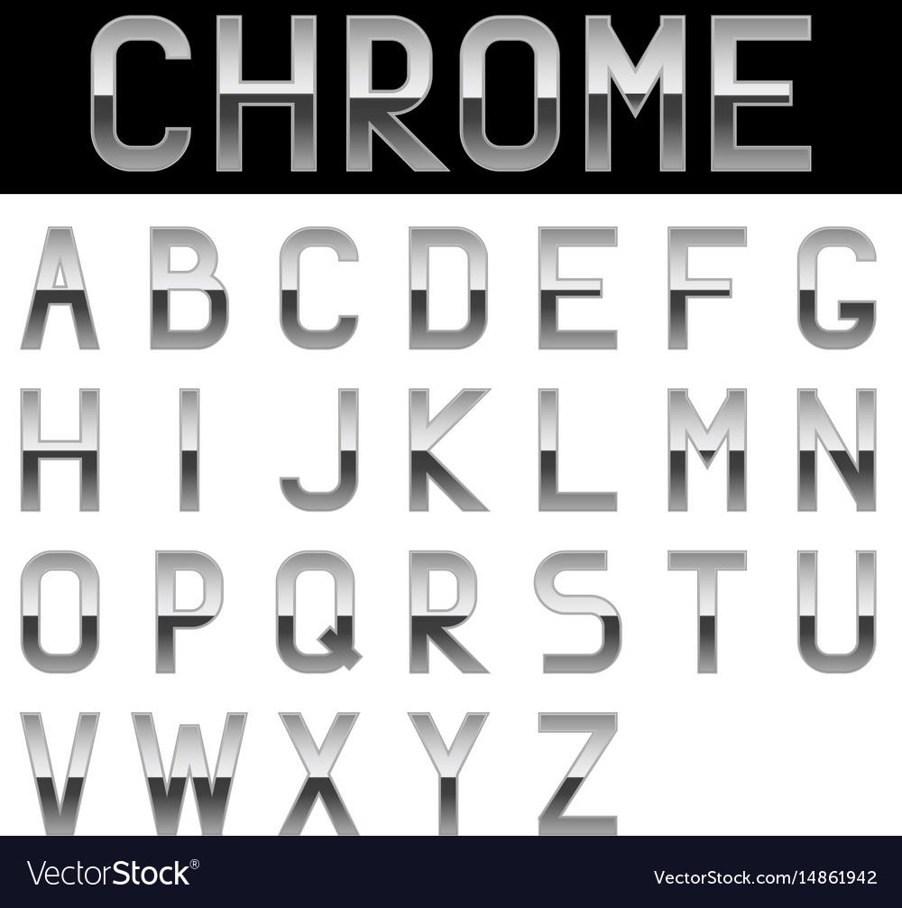 Alphabet chrome letters