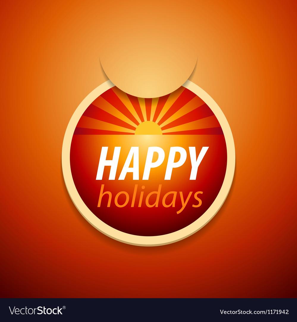 Attach happy holidays sticker