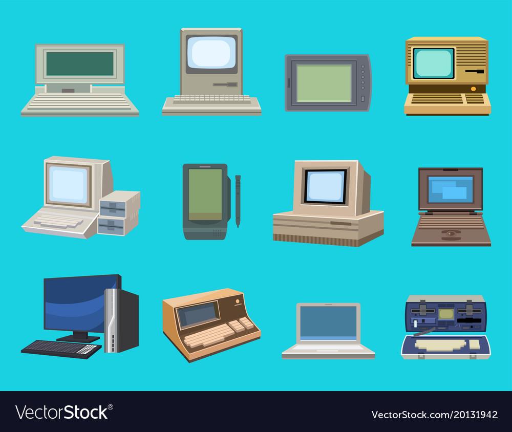 Computer technology evolution display