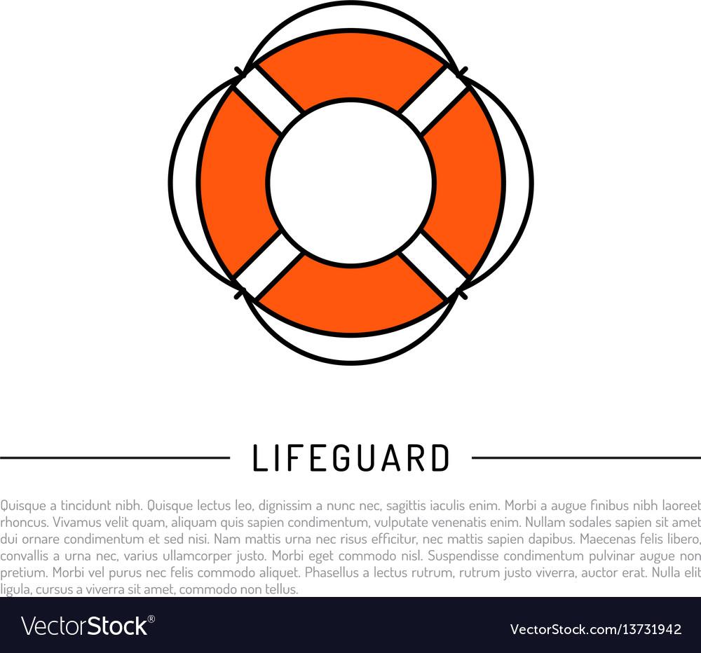 Flat icon lifebuoy
