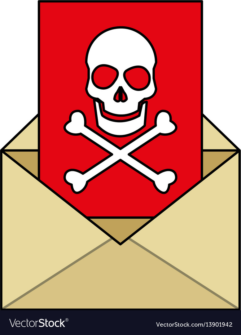 Mail with virus icon image