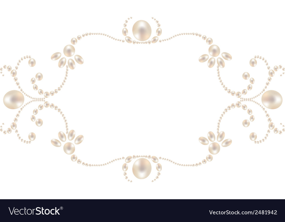 pearl picture frame Pearl frame Royalty Free Vector Image - VectorStock