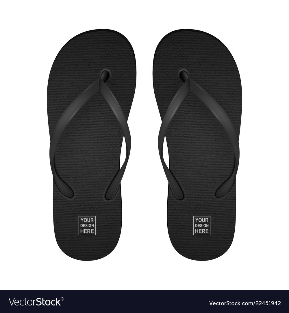 Realistic 3d black blank empty flip