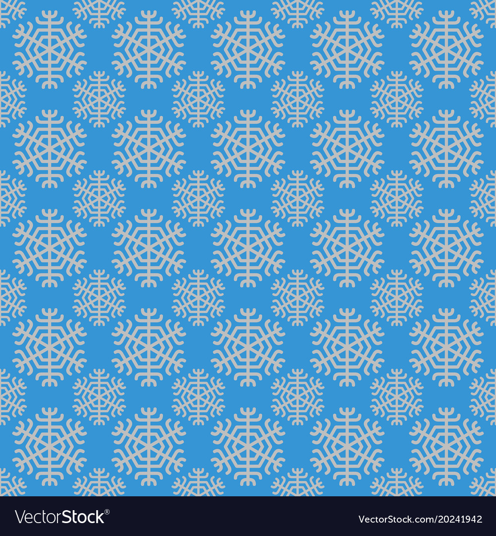 Retro simple stylized snowflake pattern wallpaper