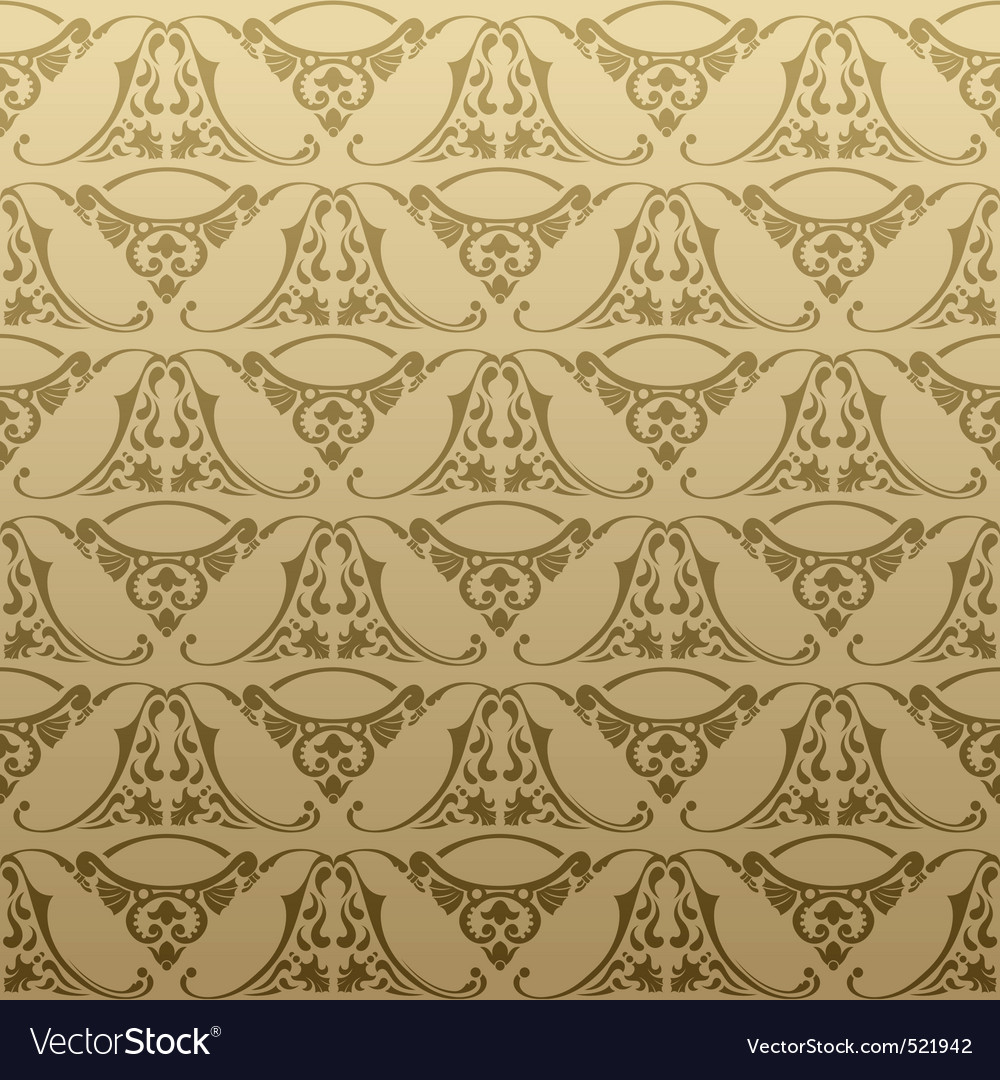 Seamless retro background pattern vector image