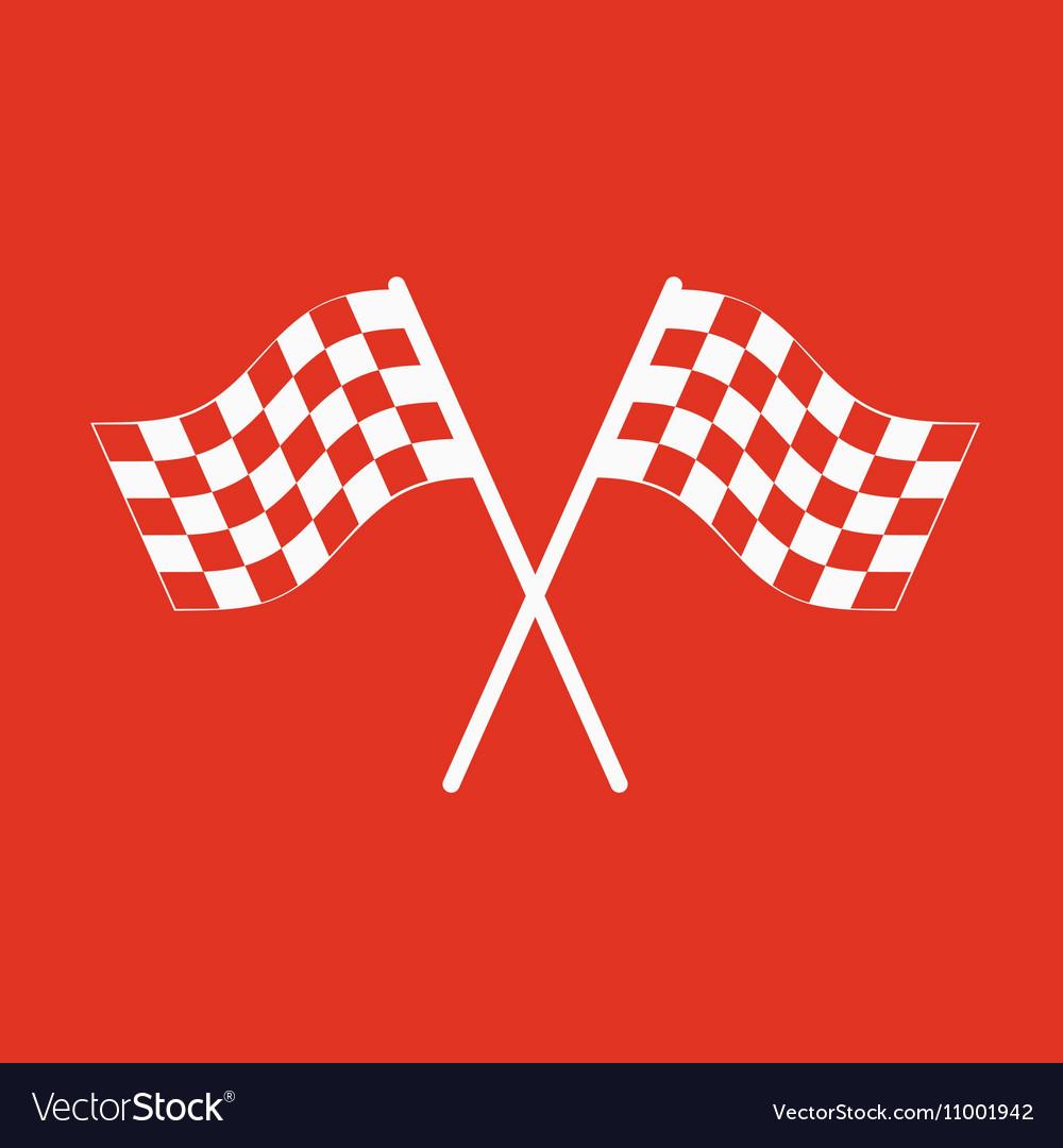 The checkered flag icon Finish symbol Flat