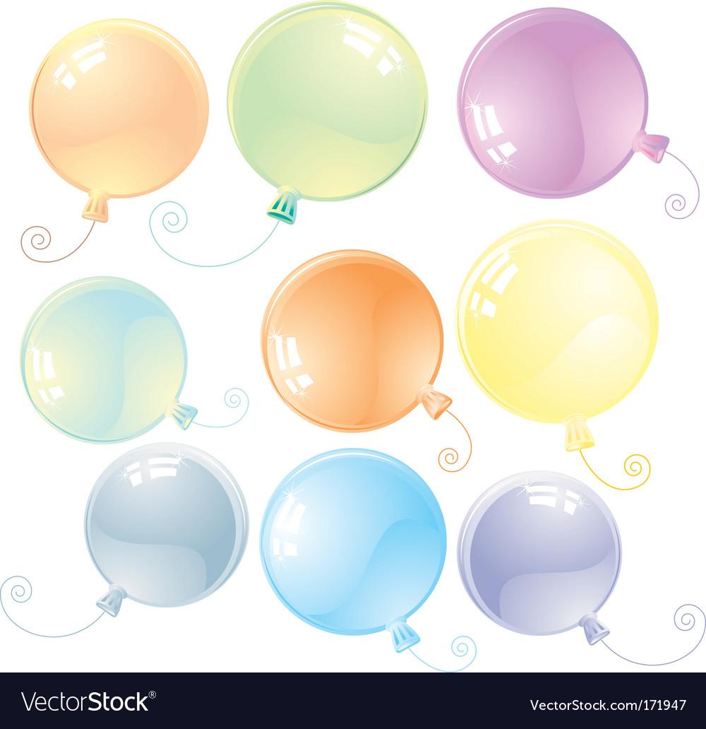 Balloons vector image