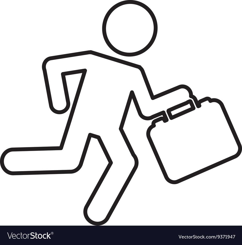 Businessman running isolated icon design