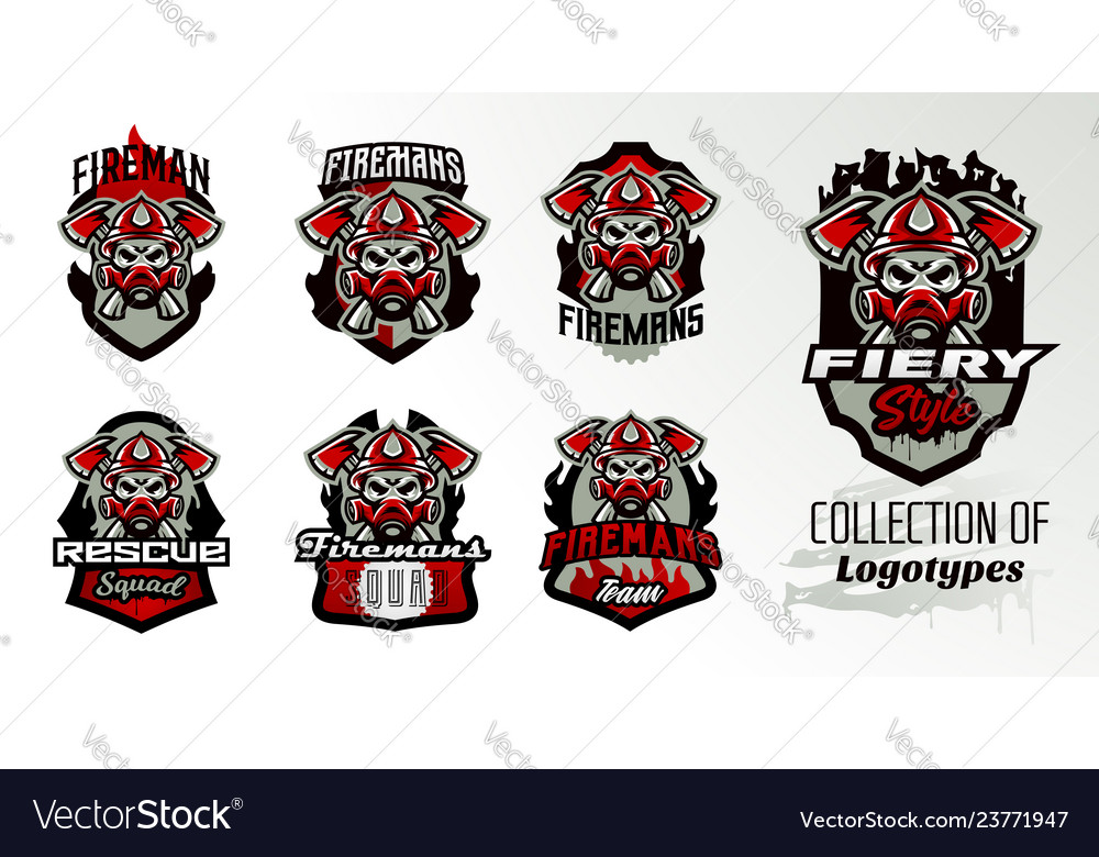 Collection of colorful icons logos stickers
