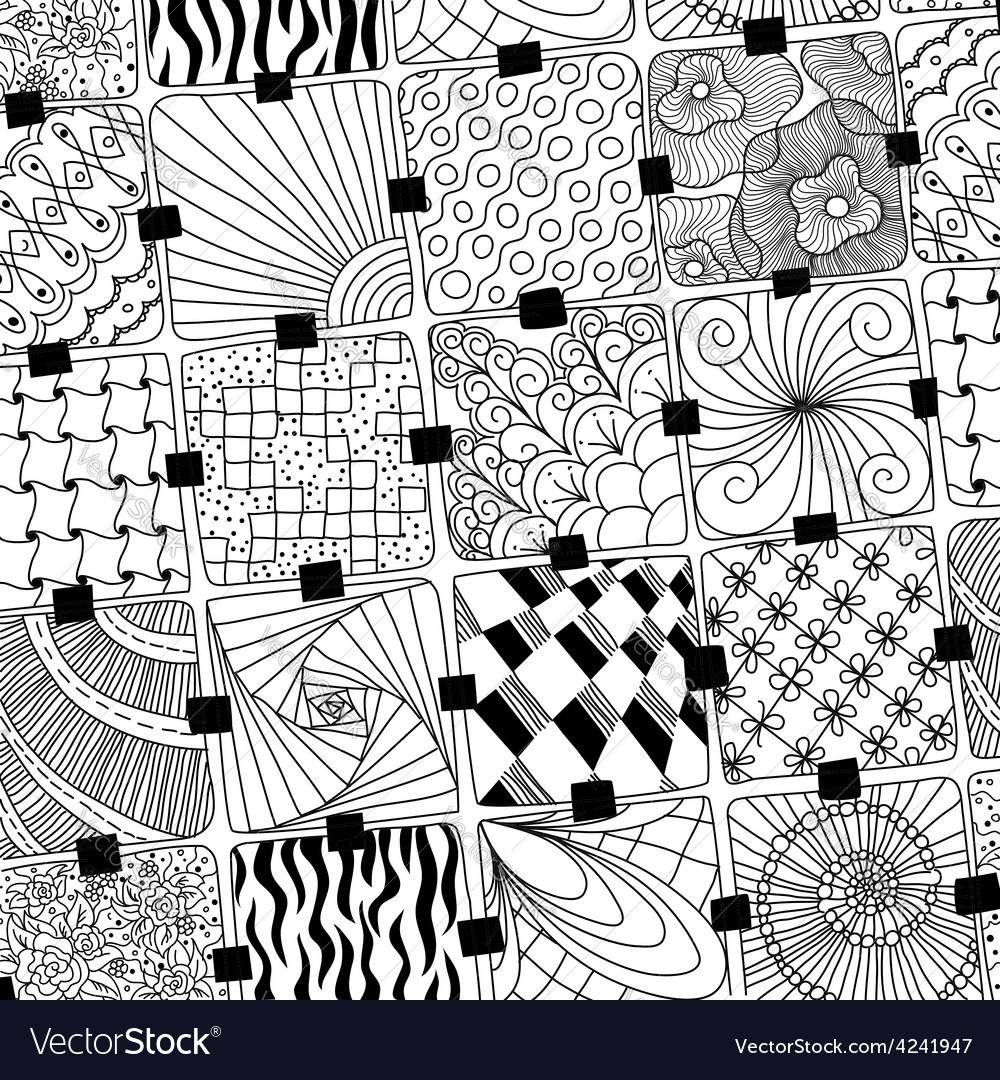 Doodles pattern zentangle