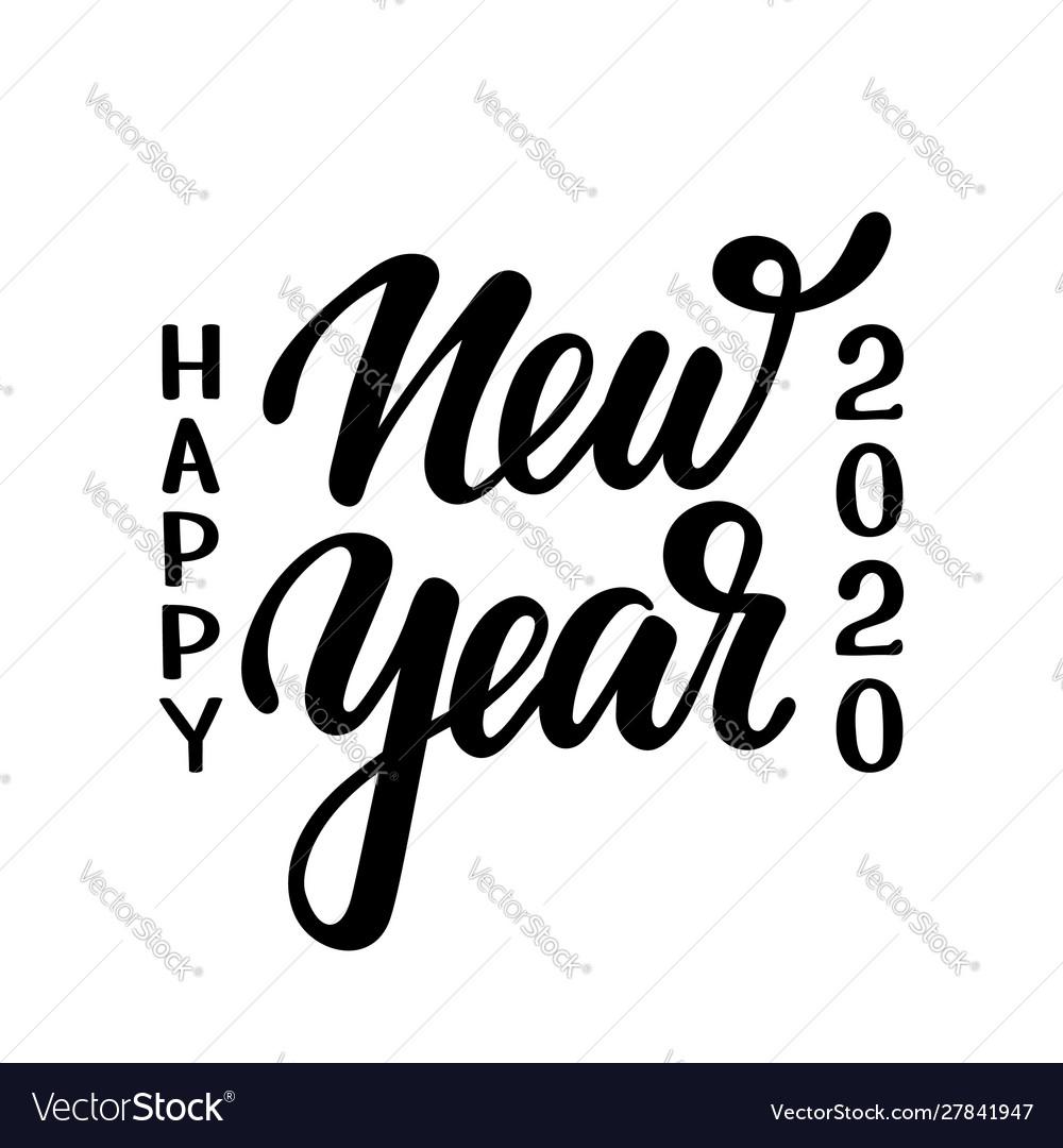 Happy new year 2020 hand drawn creative