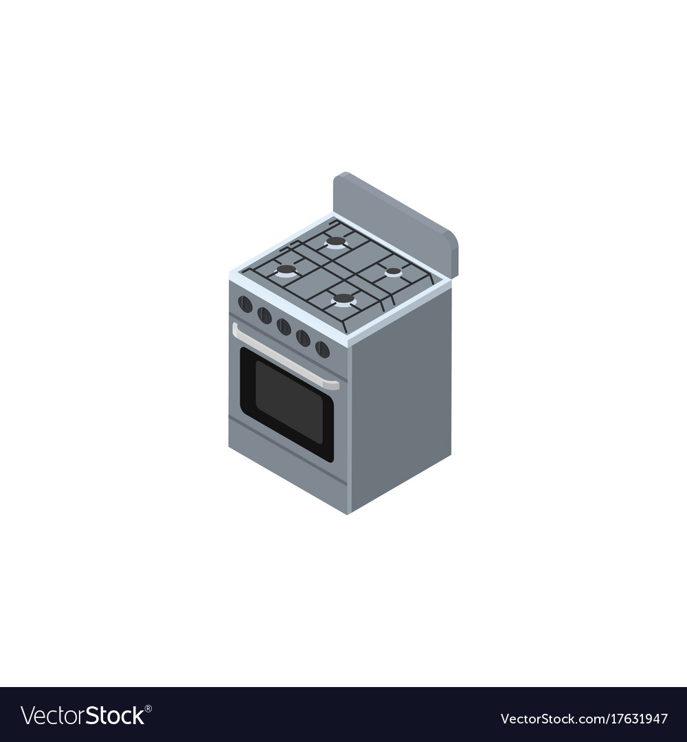 Isolated cooker isometric stove element
