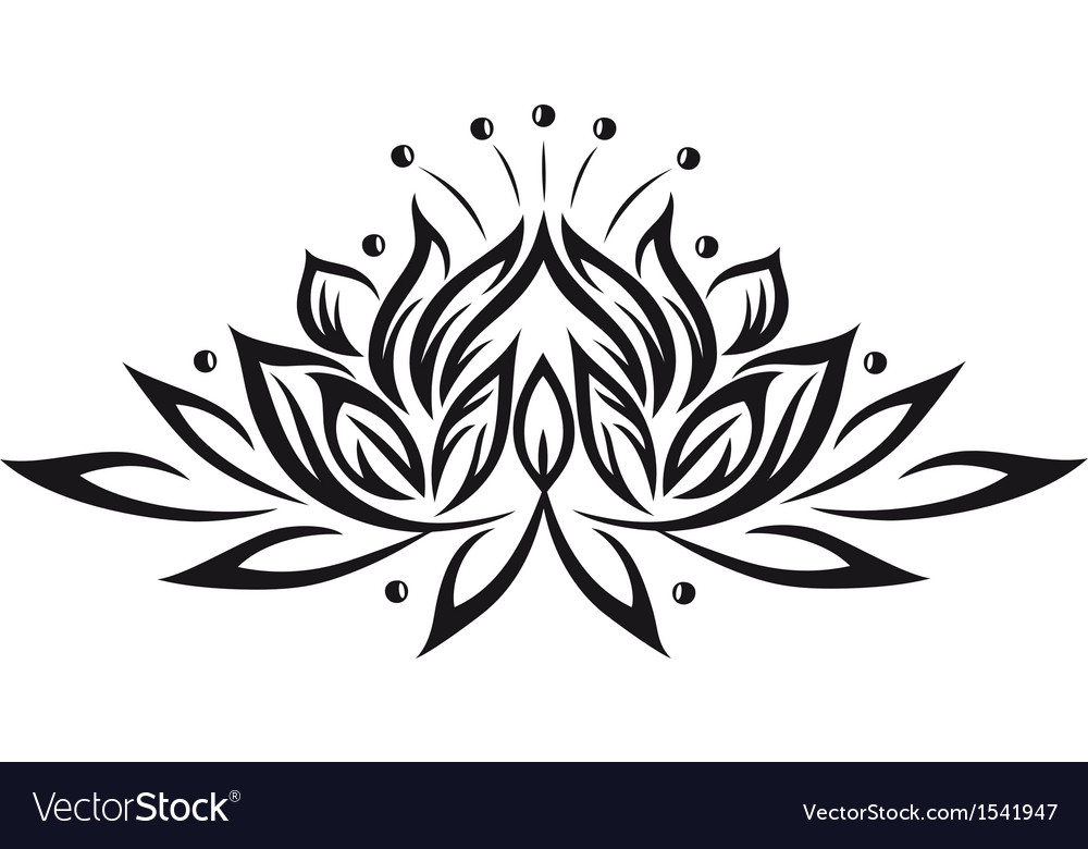 Lotus flower design element Royalty Free Vector Image