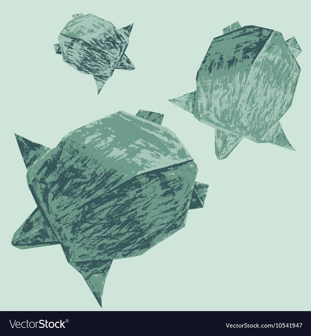 Origami creative turtles drawing