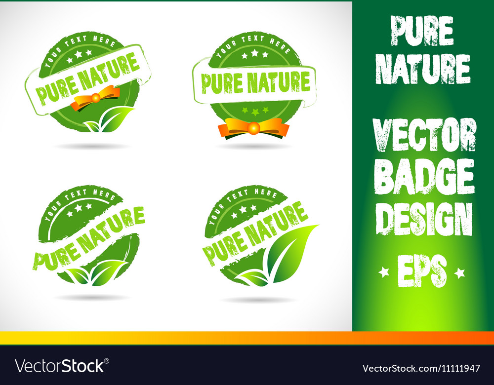 Pure nature Badge Logo
