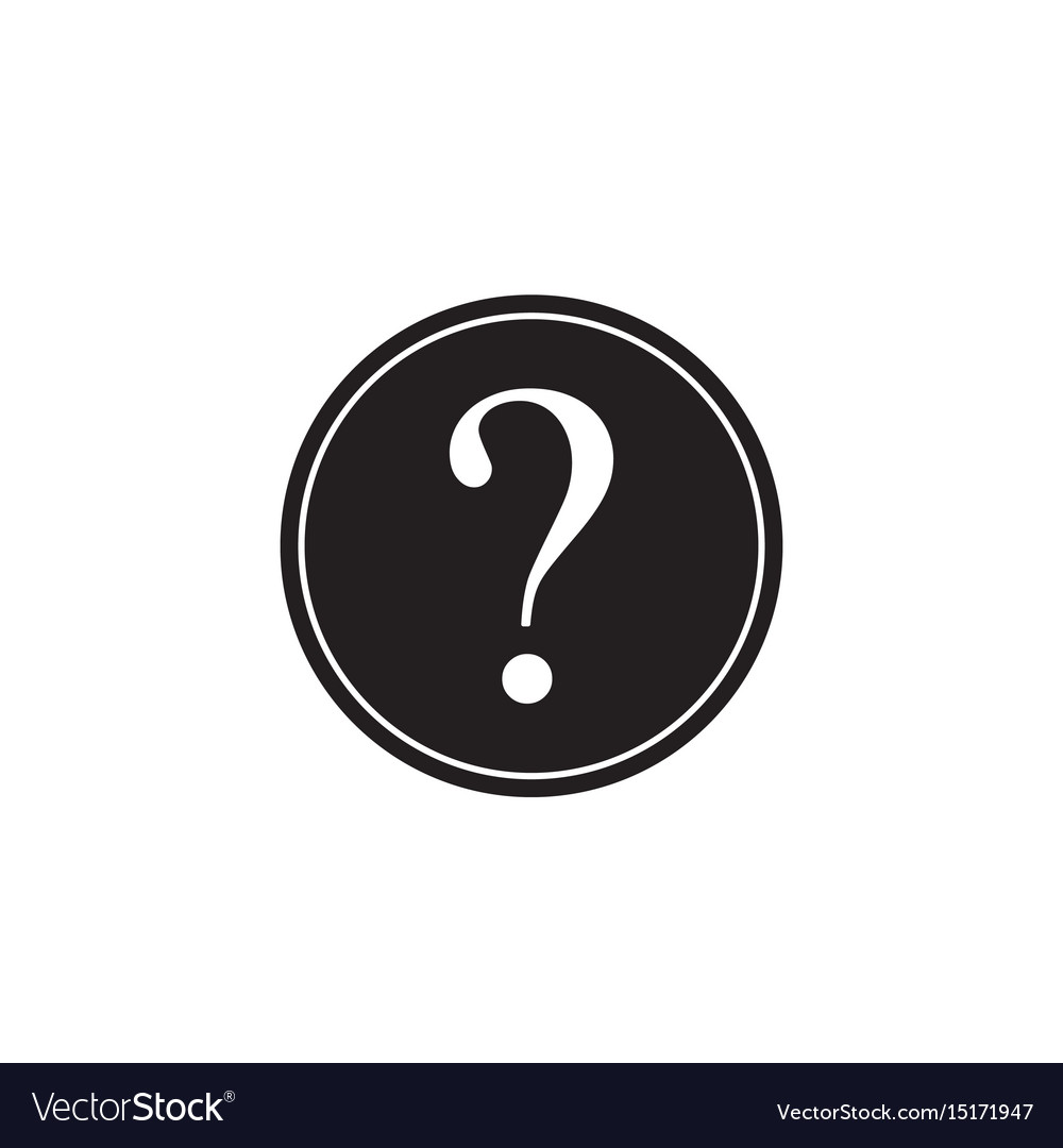 Question mark solid icon help sign faq