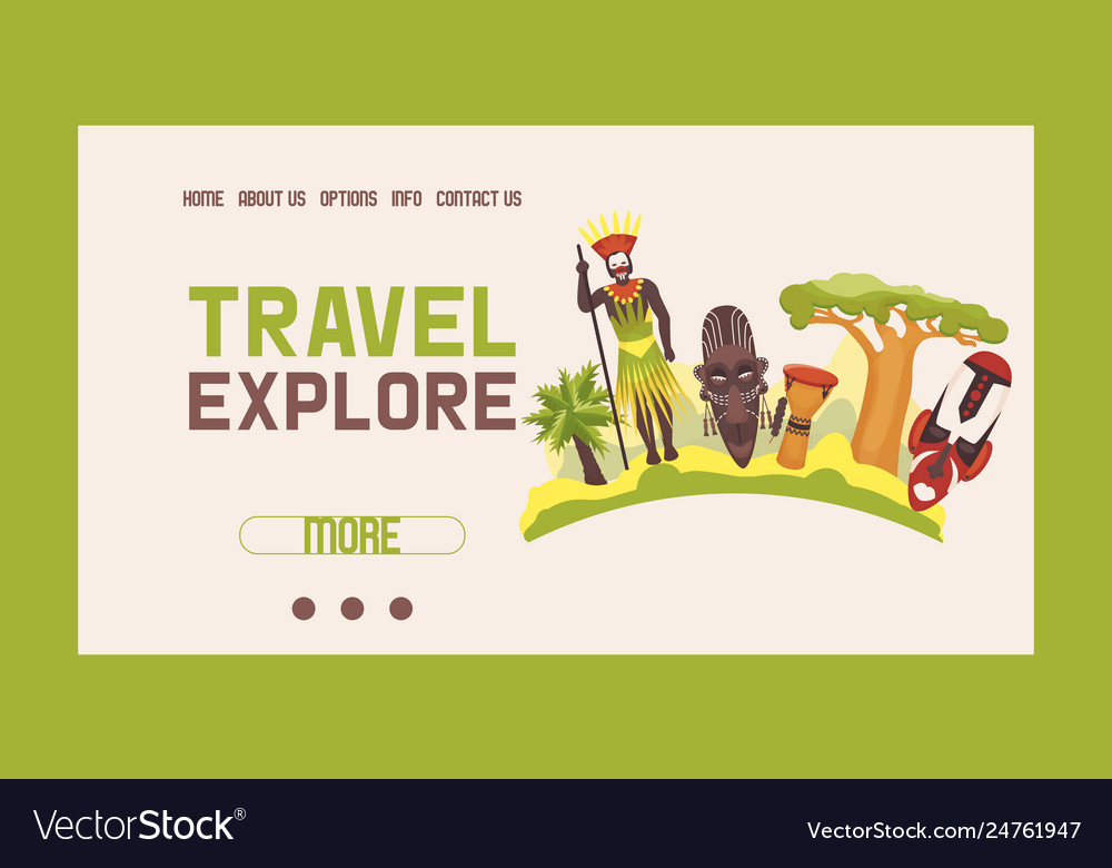 Travel to africa banner web design