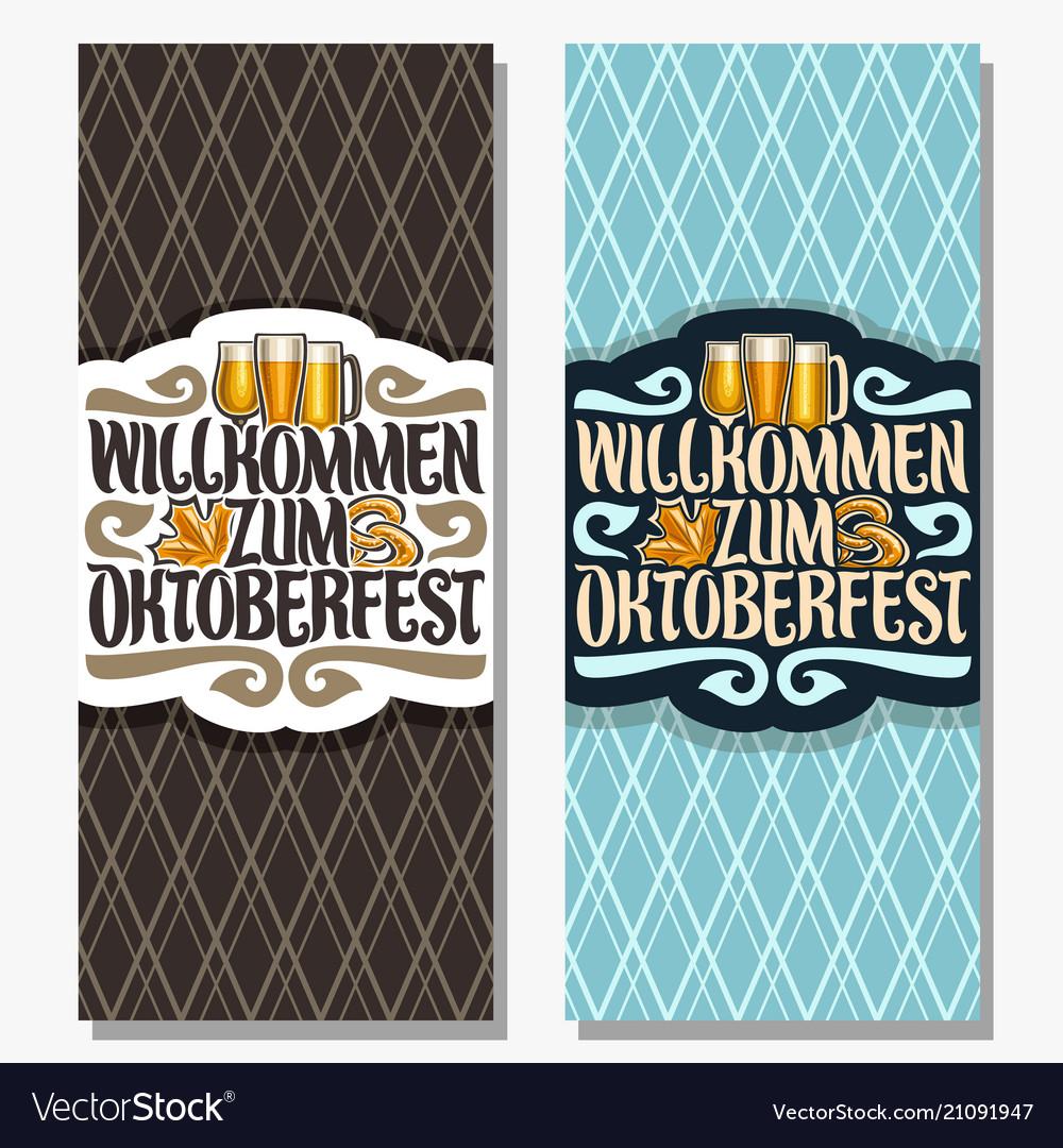 Vertical banners for oktoberfest