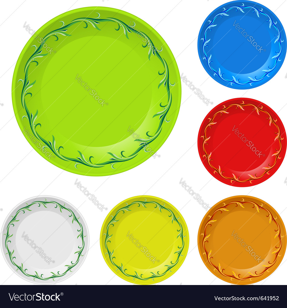 Disposable plates vector image