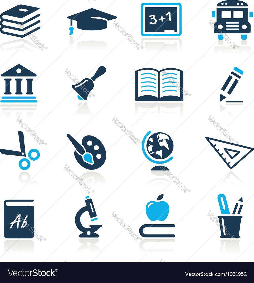 Education Icons Azure Series