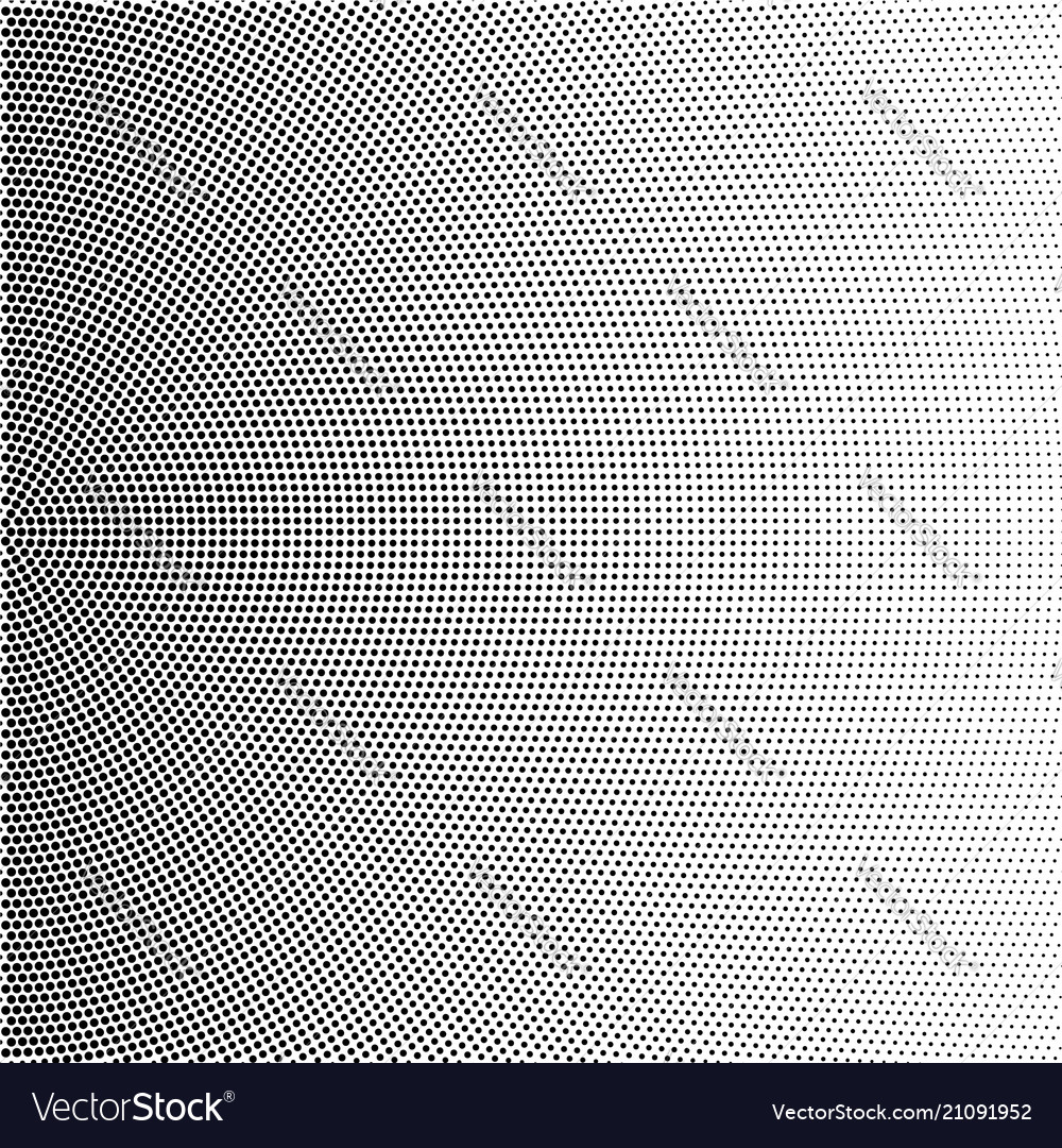 Halftone of radial gradient with black dots