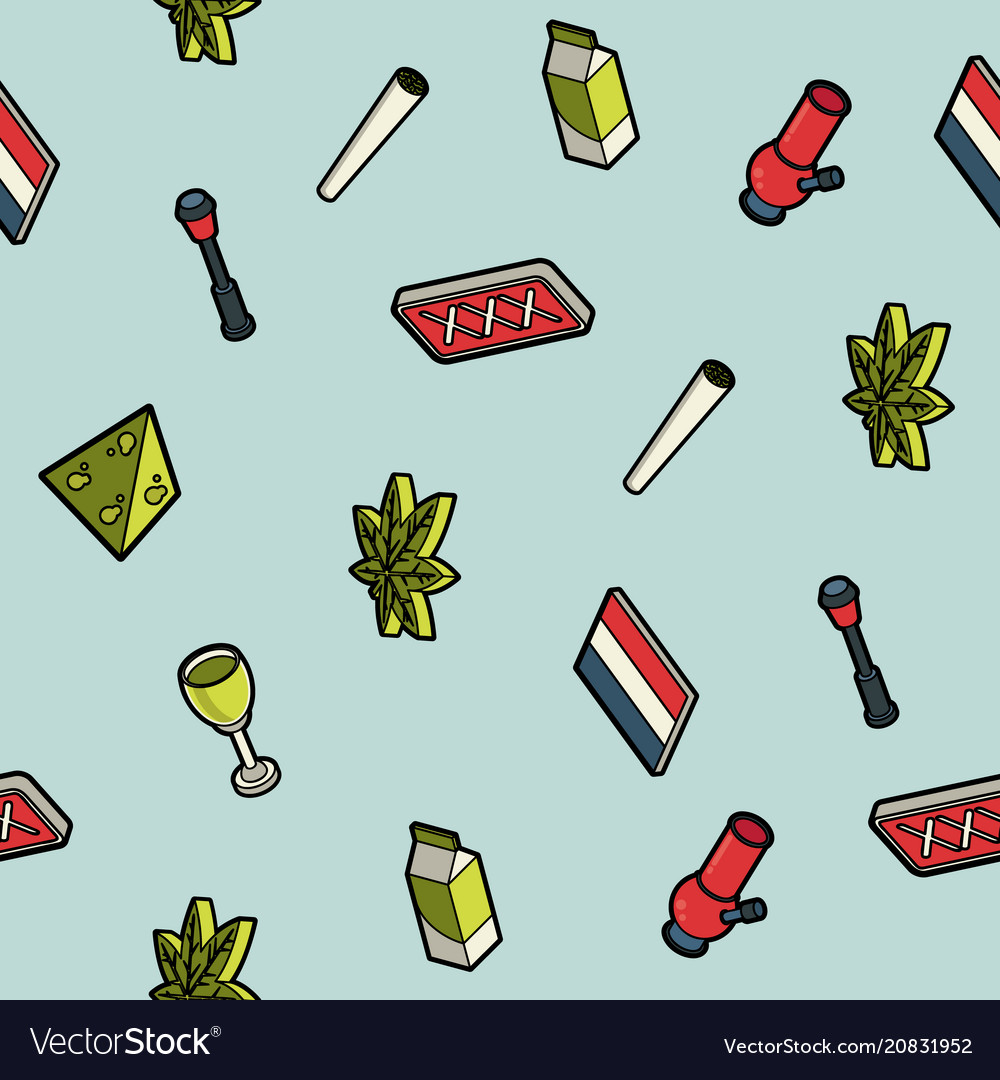 Holland color outline isometric pattern