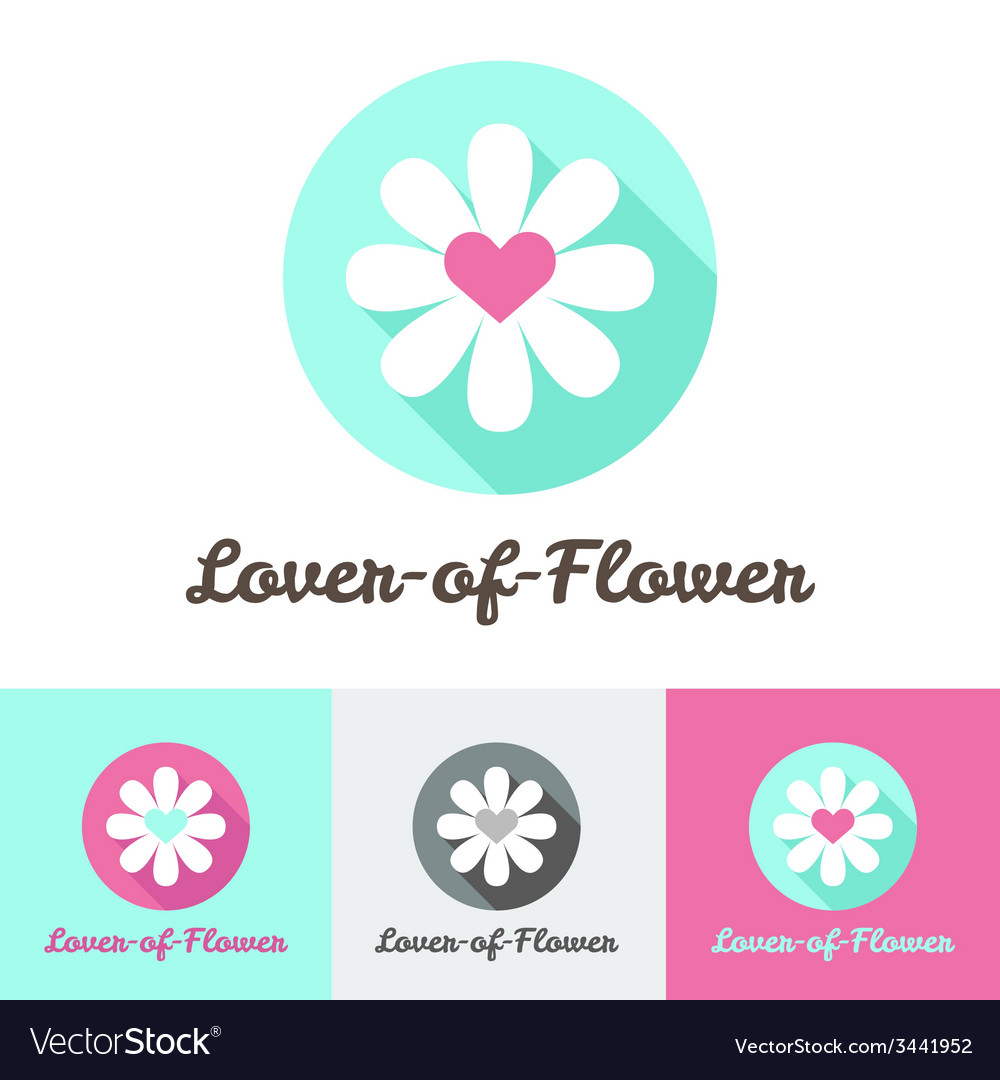 Modern flat minimalistic flower shop logo vector image