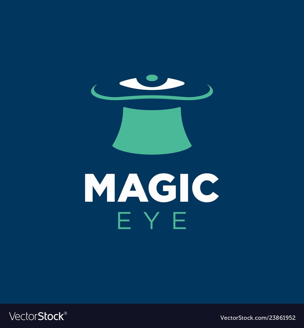Modern professional logo magic eye in blue