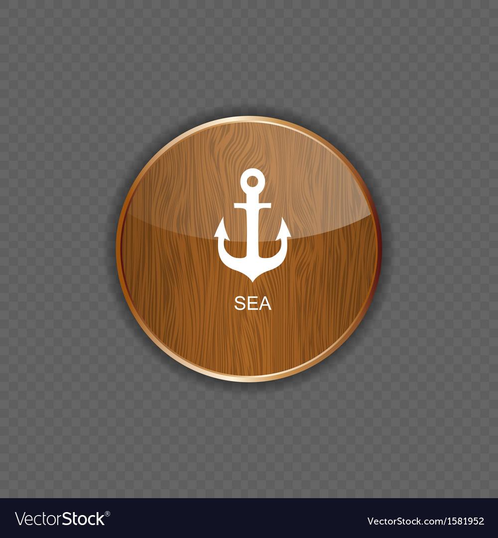 Sea wood application icons