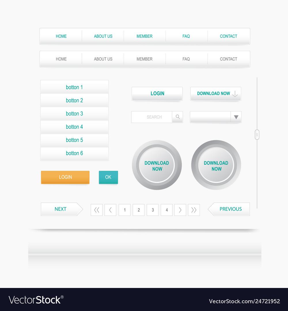 Set web elements site navigation menu button