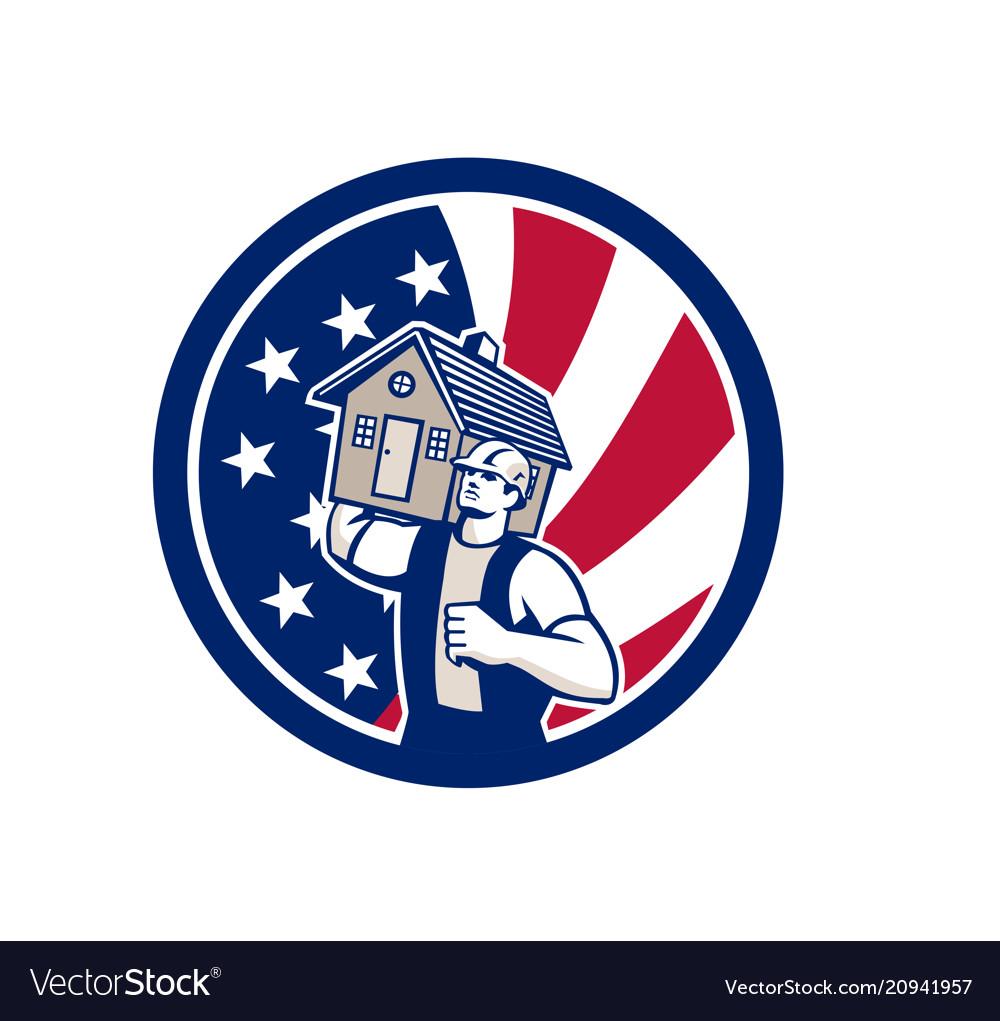 American house removal usa flag icon