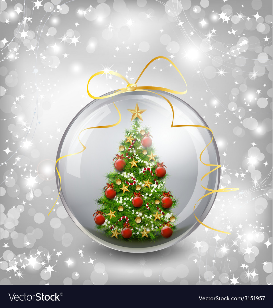 Christmas card with snow snowflakes globe and