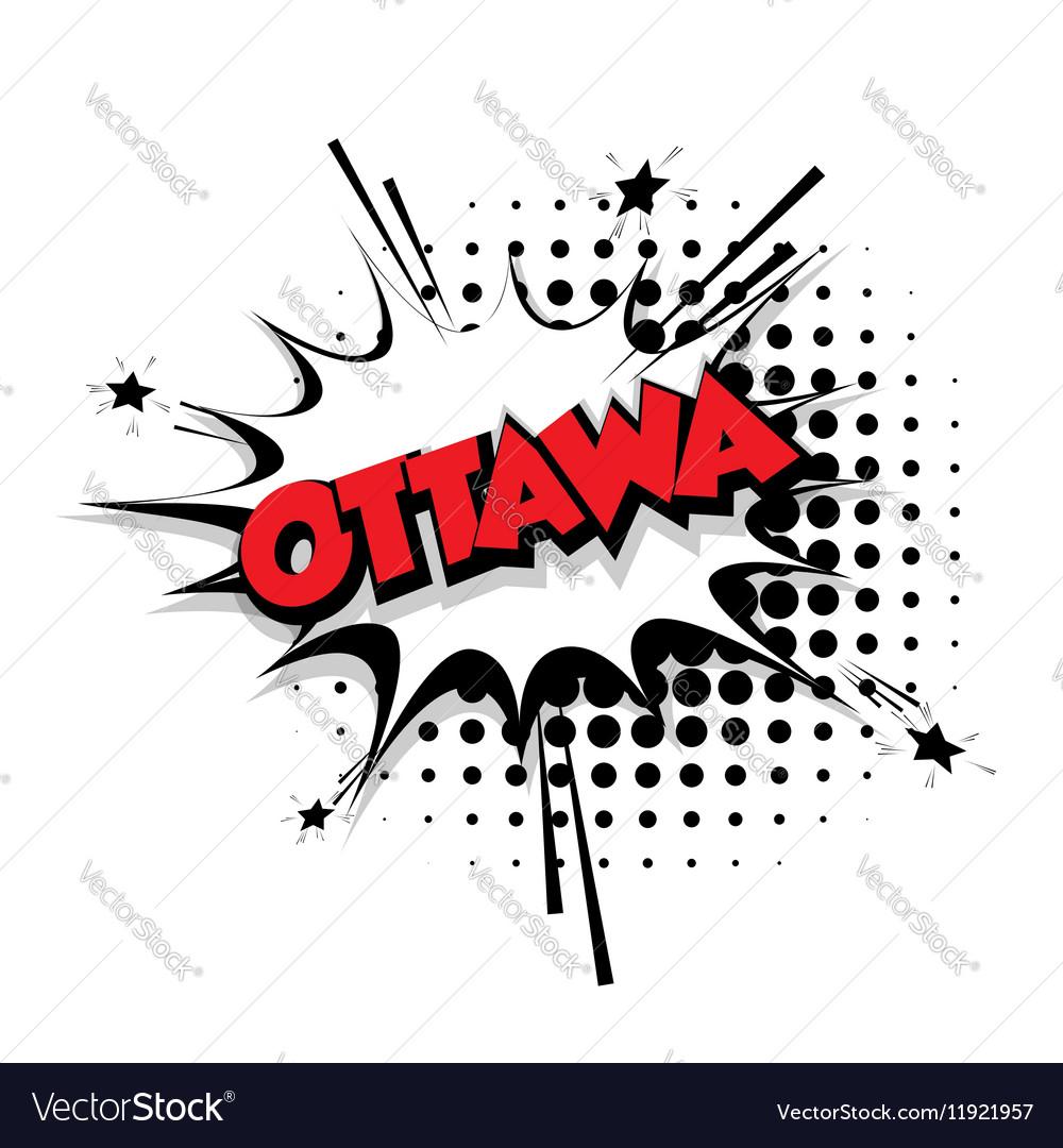 Comic text Ottawa sound effects pop art